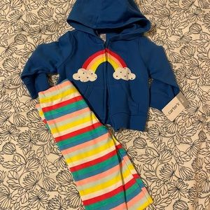 NWT Baby Rainbow Outfit, Size 6 Months